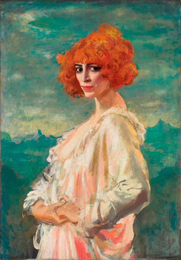 Augustus Edwin John, Ritratto della marchesa Luisa Casati, 1919