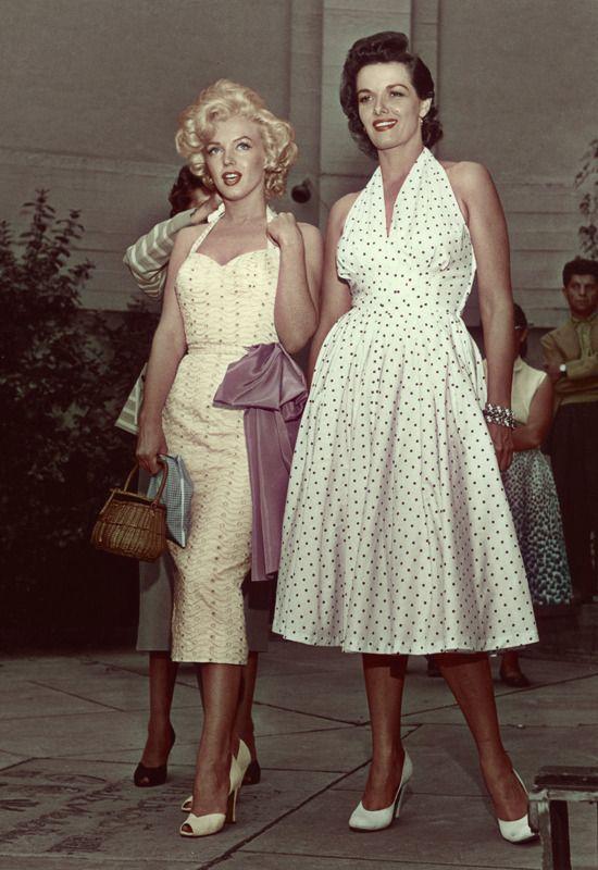 Marilyn Monroe e Jane Russel negli anni '50