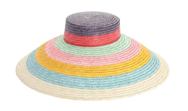 Il cappello di paglia a righe colorate di Missoni per l'estate 2020