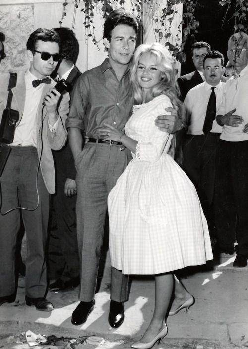 Brigitte Bardot e Jacques Charrier il giorno del loro matrimonio il 18 giugno 1959