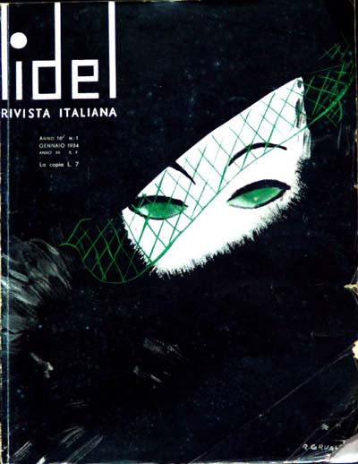 Lidel, copertina del gennaio 1934 disegnata da René Gruau