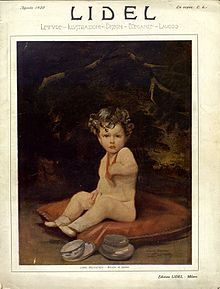 Copertina della rivista Lidel, agosto 1920