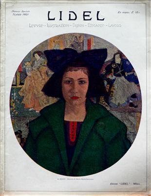 Lidel, copertina che ritrae una ragazza con cappotto verde del numero di dicembre del 1921